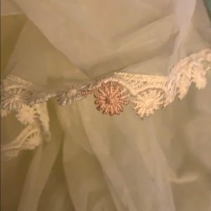 Vintage Dresses - Vintage Handmade Yellow Chiffon Layered dress
